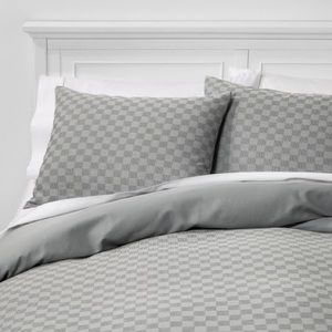 New Project 62 waffle weave duvet cover gray king